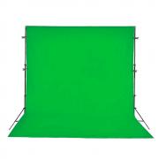 Kit Completo Fundo Verde Chroma Key 3m x 5m com Suporte 3m x 2,40m e 4 Grampos Sou Foto