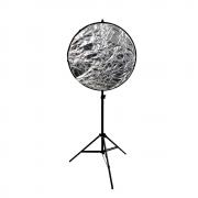 Kit Completo Rebatedor Fotográfico 60cm 5 em 1, Suporte SPR-001 e Tripé de 2m Sou Foto
