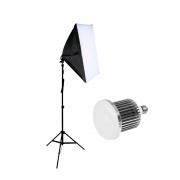 Luz para Foto com Softbox Greika 40x60cm, Tripé 2m e Lâmpada de Led 50w