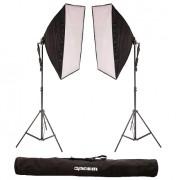 Kit de Iluminação Greika Ágata II 50x70cm para Estúdio Fotográfico