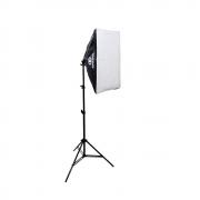 Kit de Iluminação Softbox Greika 50x70cm e Tripé de 2m para Estúdio Fotográfico