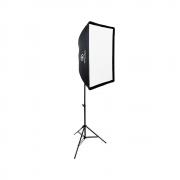 Kit de Iluminação Softbox Universal 60x90, Suporte Holder SPF-01 e Tripé de Iluminação para Fotos em Estúdio