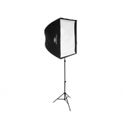 Kit de Iluminação Softbox Universal 90x90cm, Suporte Holder SPF-01 e tripé de 2m para Estúdio Fotográfico