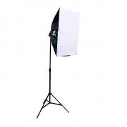 Kit de Iluminação Softbox Vareta 50x70cm Quádruplo Sou Foto SBQ-50x70 e Tripé 2m para Estúdio Fotográfico