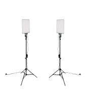 Kit Iluminação Duplo com LED 530C 30W e Tripé de 2m para Foto e Vídeo