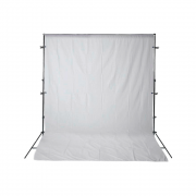 Kit para Fotografia e Vídeo com Suporte SFI-222, Fundo Infinito Oxford Branco e Grampos