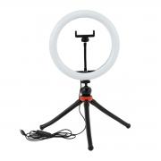 Kit Ring Light 26cm + Tripé de Mesa Flexível Octopus