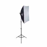 Kit Softbox Luz de Led para Foto e Vídeo 50x70 Greika com Tripé 2,40m