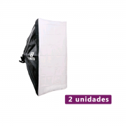 Lote com 2 unidades de Softbox Sou Foto 50x70cm SBS-50x70 para Estúdio Fotográfico