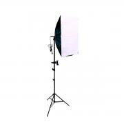 Luz para Foto Softbox 50x70cm e Tripé 2m com Suporte para Celular
