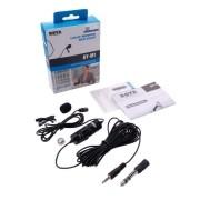 Microfone de Lapela Boya BY-M1 para Câmeras DSLR, Filmadoras e Celulares Smartphones