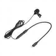 Microfone de Lapela para Iphone BOYA BY-M2 para Gravação de Áudio e Vídeo