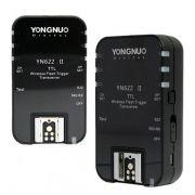 Rádio Flash Yongnuo YN-622 II com TTL para Câmera e Flash Speedlite