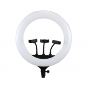 Ring Light 48w Iluminador de LED CL-18 45cm com 3 Suporte para Celular (sem tripé)