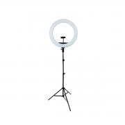 Ring Light 70W Iluminador de LED 44cm completo com Tripé 2m Luz para Foto e Vídeo