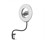 Ring Light de Mesa 24w com Espelho Iluminação para Fotos e Vídeos
