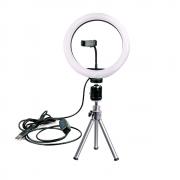 Ring Light LED 26cm com Mini Tripé WT-0551 22cm para Foto e Vídeo