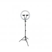 Ring Light LED 30cm Tripé de Luz para Foto e Vídeo 10w com 2 Suporte para Celular