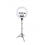 Ring Light LED 48w com Tripé de Luz CL-18 45cm com 3 Suporte para Celular