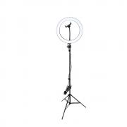 Ring Light Selfie 26cm com Tripé de Iluminação 2m para Fotos e Vídeos