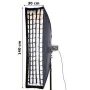 Softbox Bowen's Strip Light 30x140cm com Grid 5x5cm Greika