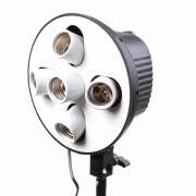 Soquete Iluminador Quíntuplo Equifoto para até 5 Lâmpadas