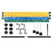 Suporte de Parede Completo Atek AT-040 com Barras Modulares e Roldanas