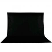 Tecido para Fundo Infinito 3m x 4m Equifoto - Preto