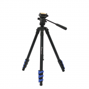Tripé para Câmera com Cabeça Hidráulica Weifeng WF5316/WF3716H 160cm para Fotos e Filmagens