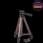 Tripé Weifeng WT-3130 125cm de Altura Cabeça 3 Vias para Câmeras e Filmadoras