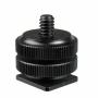Adaptador Sapata Hot Shoe Parafuso ¼ para Câmera, DSLR e Iluminador Led Sou Foto ASF-001