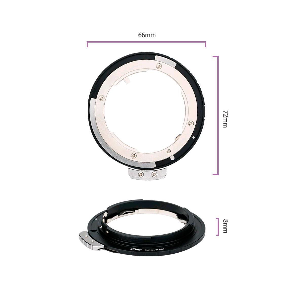 Adaptador Lentes Nikon F e AI Para Câmeras Canon EOS LMA-NKGEOS  - Fotolux