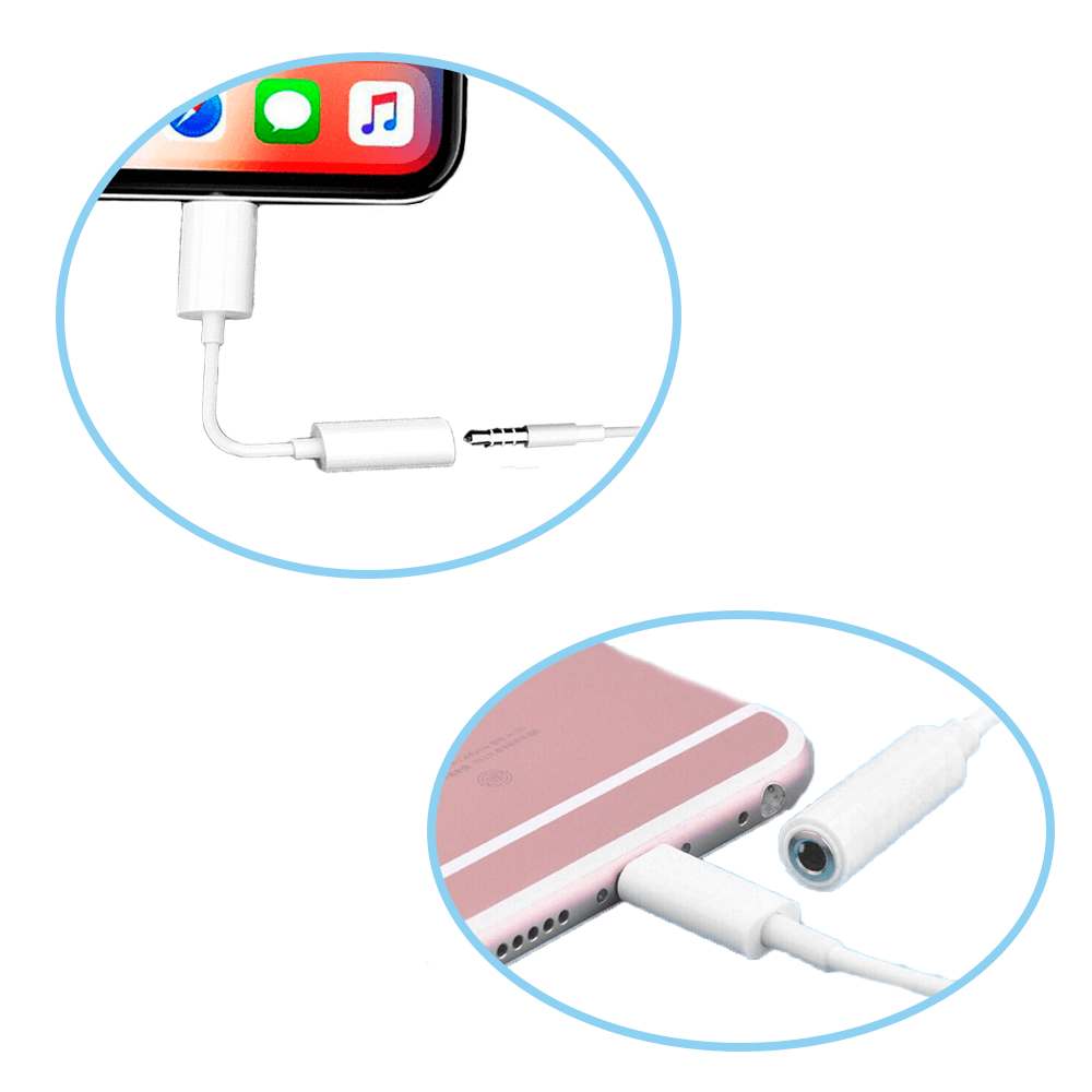 Adaptador Lightning para P2 3.5mm para Celular Conversor de Áudio Lehmox LE-229  - Fotolux