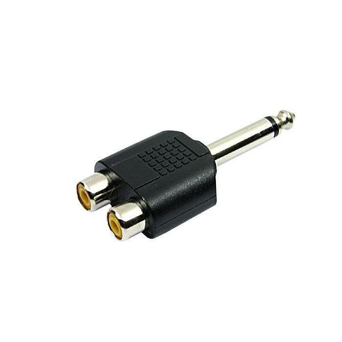 Adaptador P10 Mono para 2 Jack RCA ChipSce - 003-1212  - Fotolux