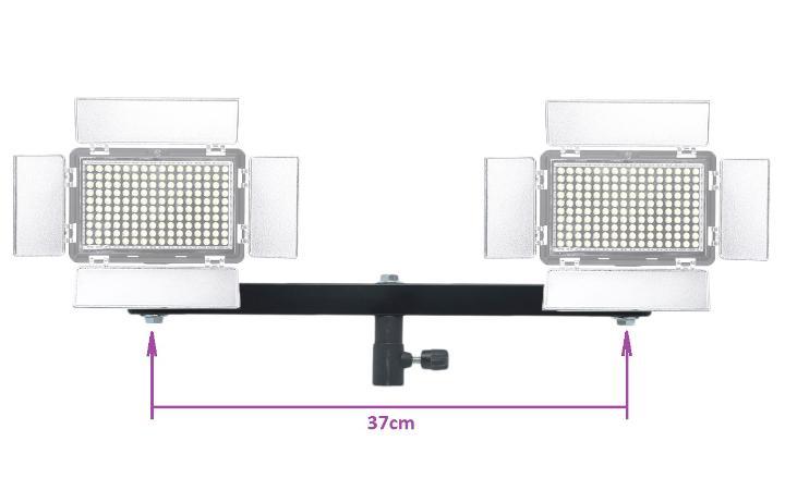 Adaptador para Dois Iluminadores Sob Tripé de iluminação Atek Maracanã