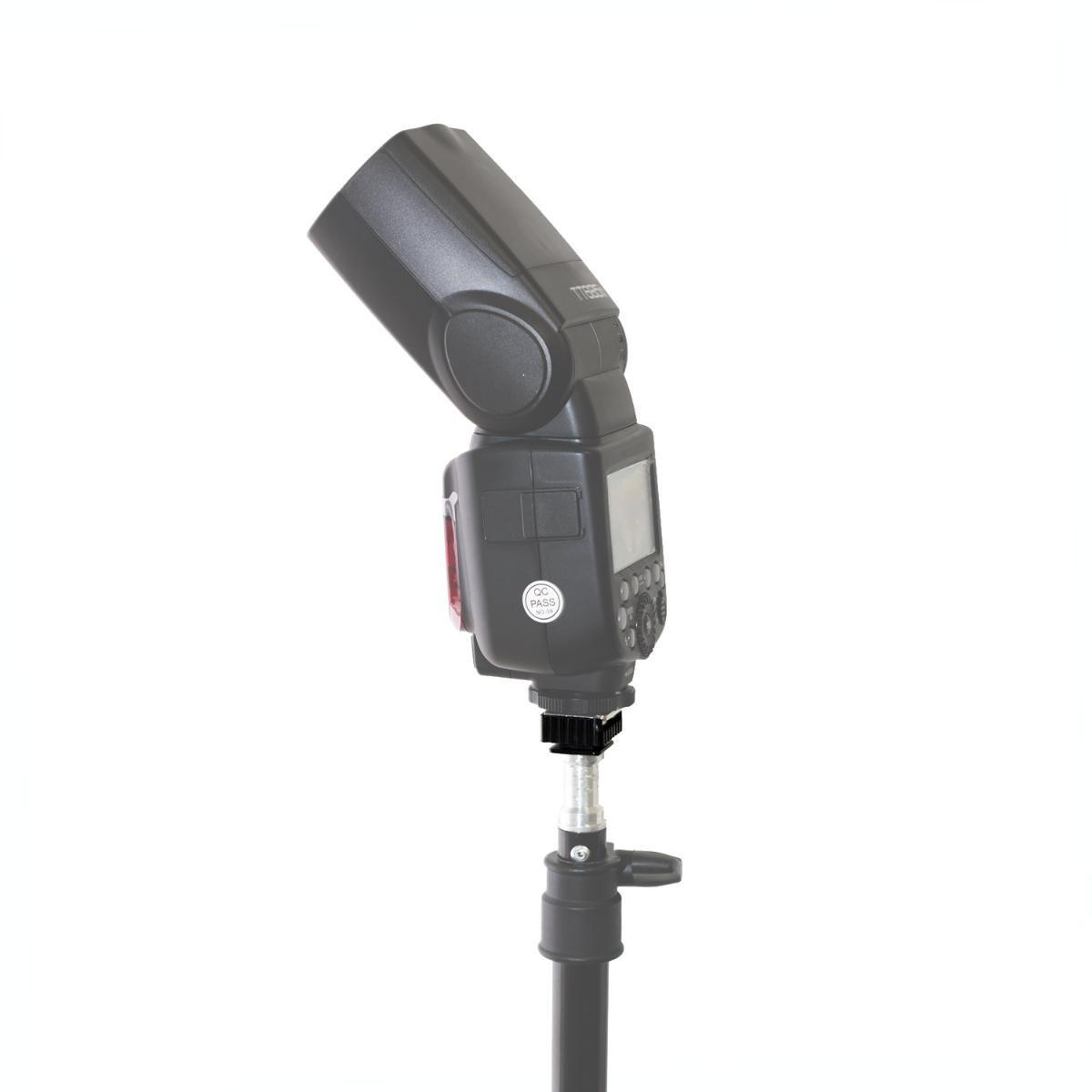 Adaptador Sapata Hot Shoe YA5004 para Flashes e Equipamentos Fotográficos  - Fotolux