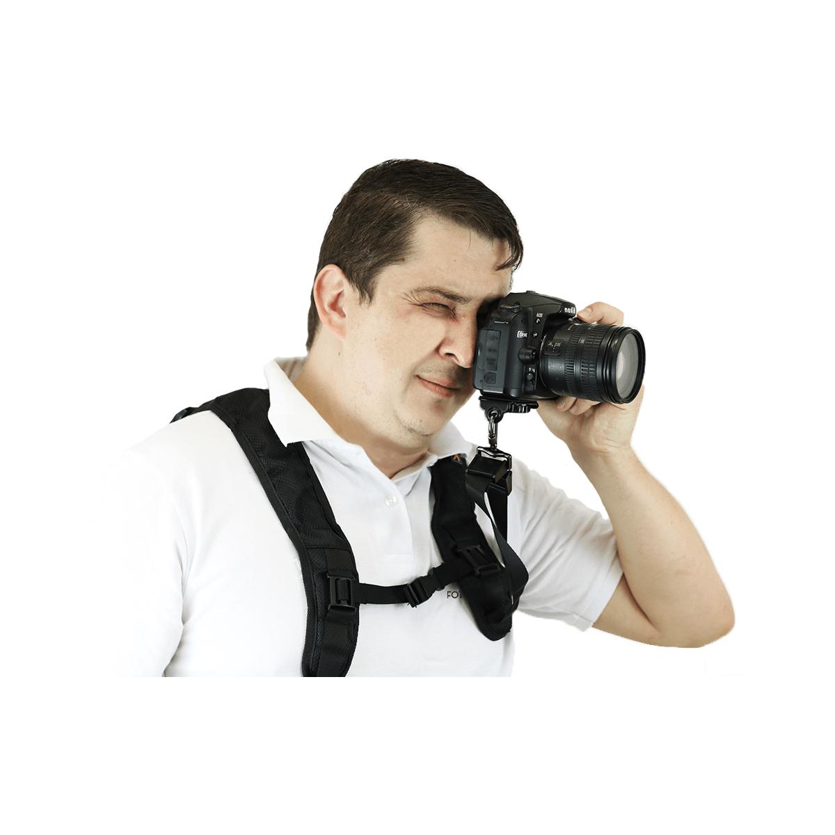 Alça de Ombro Dupla para Câmera Sou Foto AOD-001com Engate rápido ¼?  - Fotolux