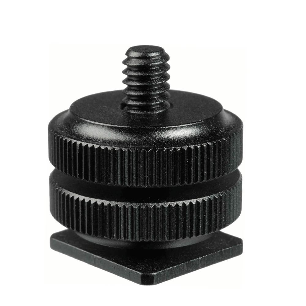 Adaptador Sapata Hot Shoe Parafuso ¼ para Câmera, DSLR e Iluminador Led Sou Foto ASF-001  - Fotolux