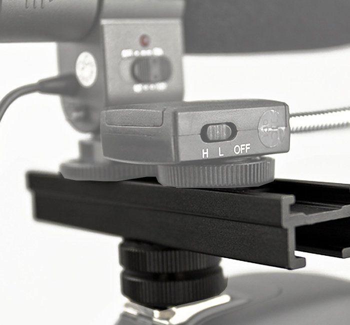 Barra Extensora JJC CS para Sapata de Câmera Fotográfica