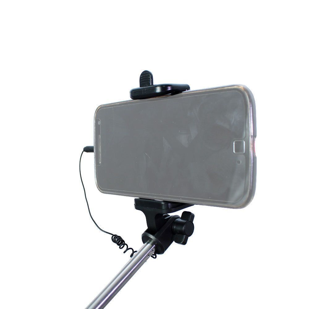 Bastão de Selfie Retrátil com Disparador Embutido Greika LS-10 para Smartphones  - Fotolux