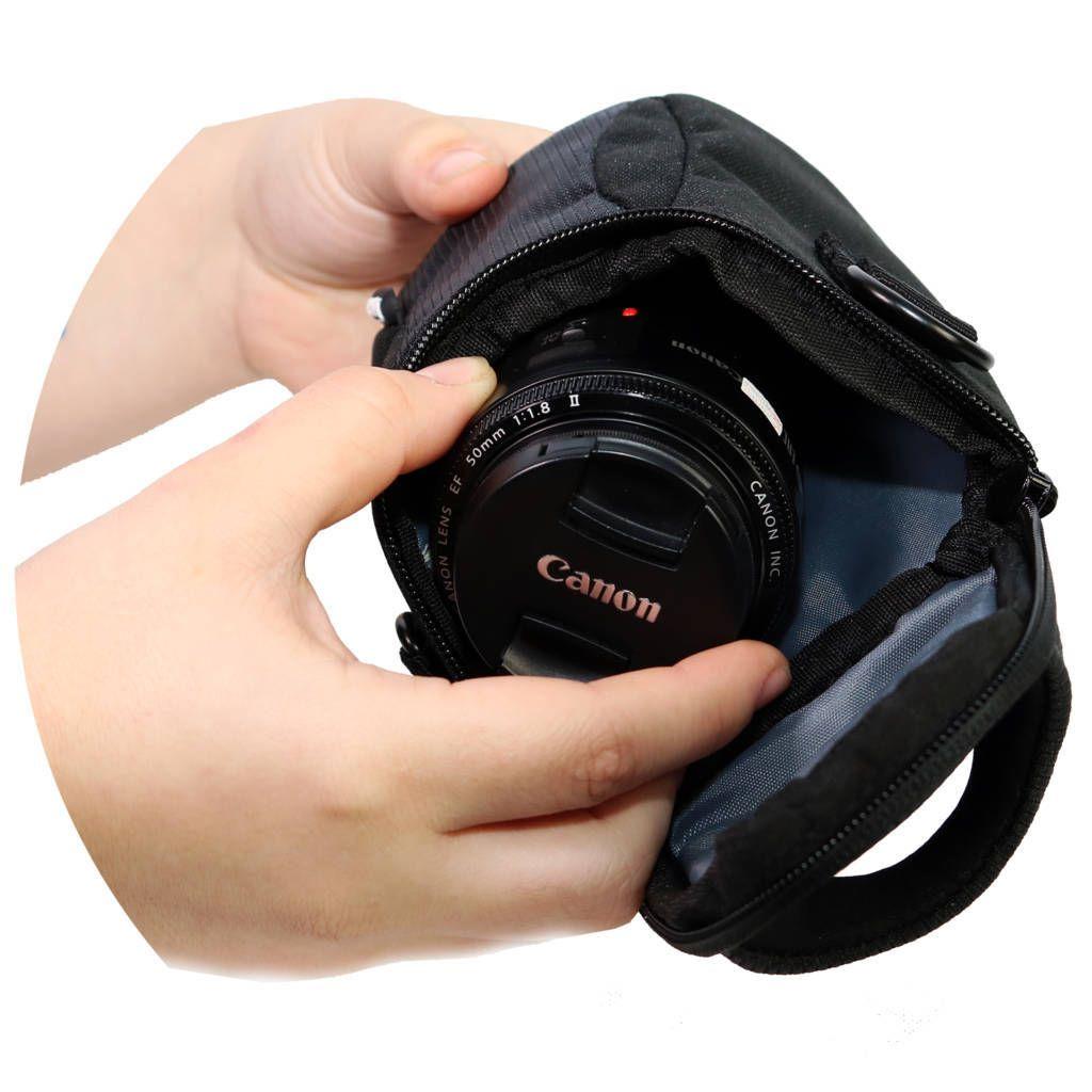 Bolsa Case Easy EC-9904-A para Câmera Compacta ou Lente 18-55mm