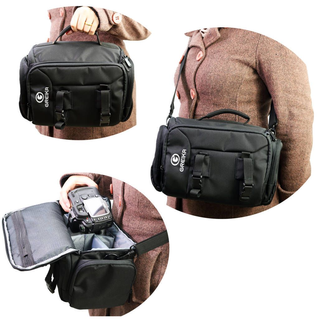 Bolsa Greika KF13038 para Câmera DSLR e Acessórios Fotográficos