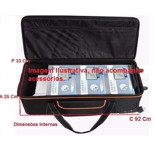 Bolsa Rígida Greika CB-06 com Rodas para Transporte de Tripés e Equipamentos Fotográficos