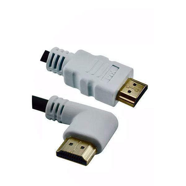 Cabo HDMI 1.4 com Plug 90º 4K UltraHD 3D 19 Pinos Chip Sce