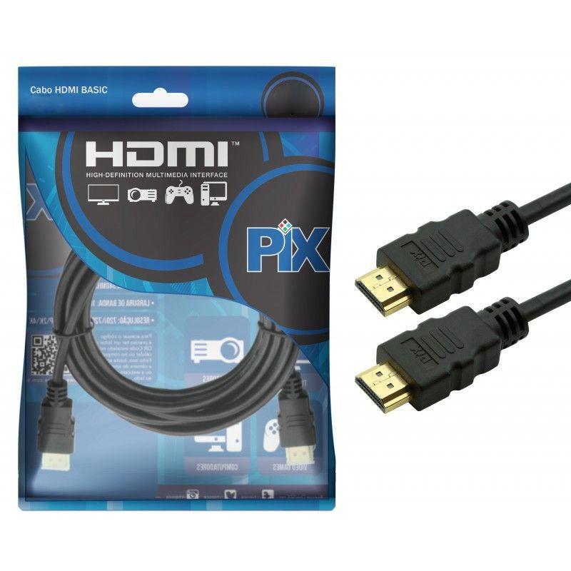 Cabo HDMI 1.4 UltraHD 4K 15 Pinos PIX Chip Sce  - Fotolux