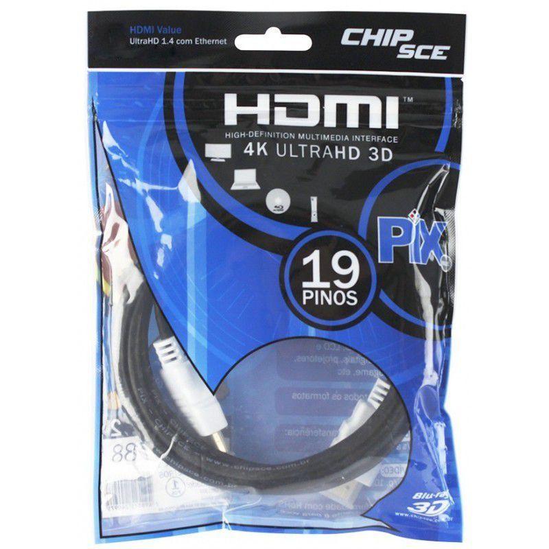 Cabo HDMI Value 1.4 com Ethernet 4K UltraHD 3D