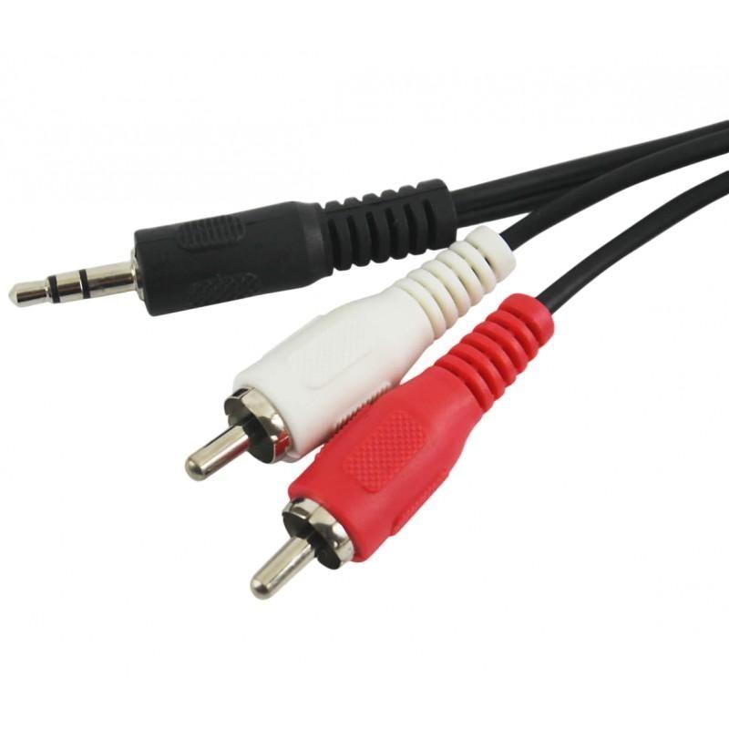 Cabo P2 Estéreo para 2 RCA Níquel Chip Sce  - Fotolux