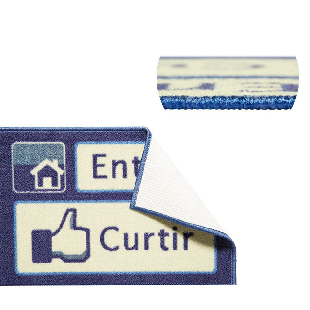 Capacho Tapete Porta Toc Toc 40x60cm Tema Facebook Entrar Curtir