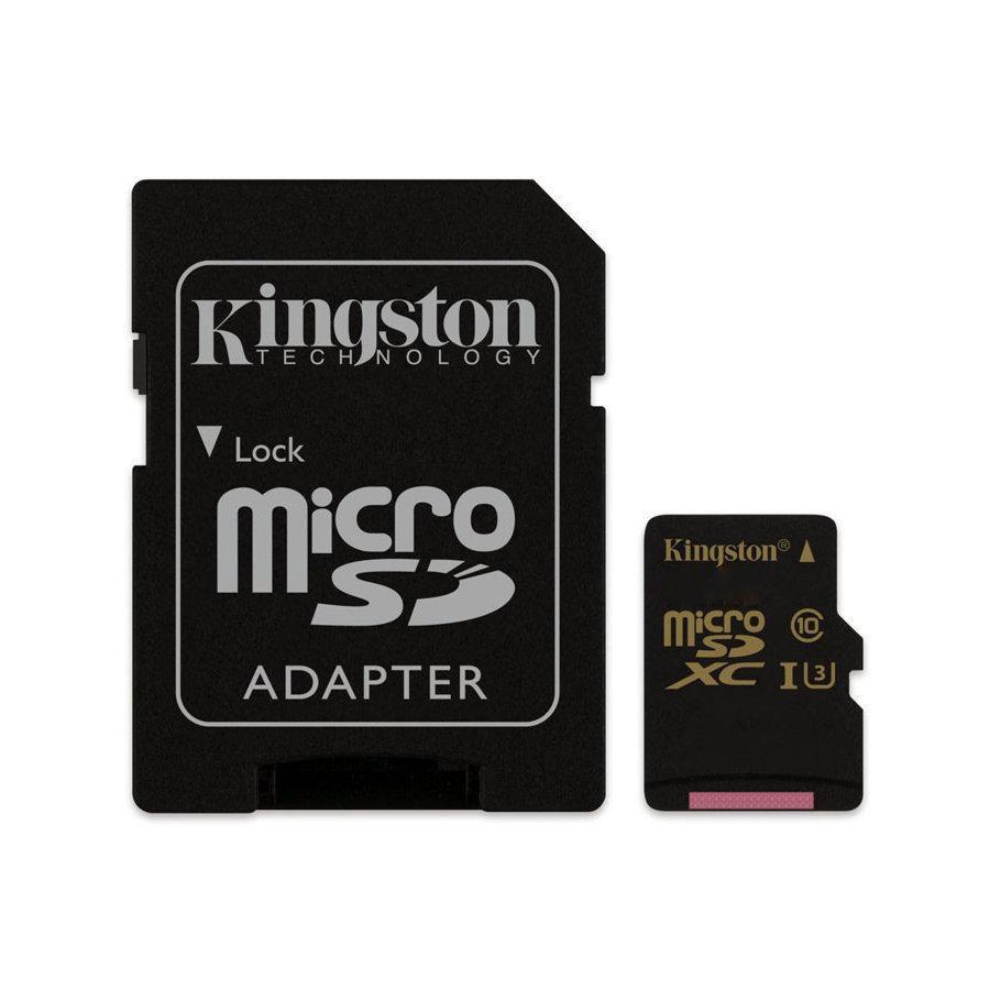 Cartão de Memória Kingston Micro SD Gold Classe 10 4K Ultra HD 90MB/s com Adaptador SD - SDCG