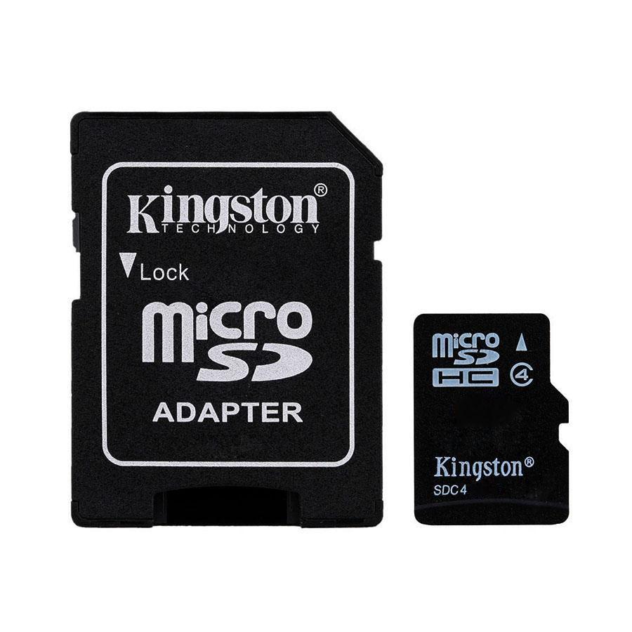 Cartão de Memória Kingston Micro SDHC Classe 4 com Adaptador SD - SDC4  - Fotolux